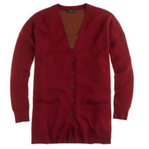 J.Crew Merino Wool Double Knit Long Cardigan